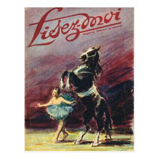 Carte Postale Couverture, Lisez-Moi, représentation de cirque