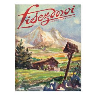 Carte Postale Couverture, Lisez-Moi, voyage alpin
