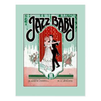 Carte Postale Couverture vintage de musique de feuille d'âge de