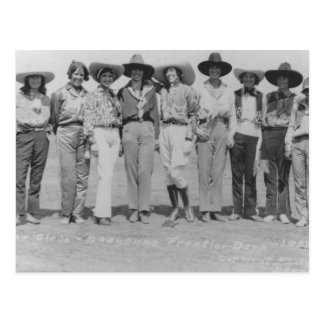 Carte Postale Cow-girls aux jours de frontière de Cheyenne,