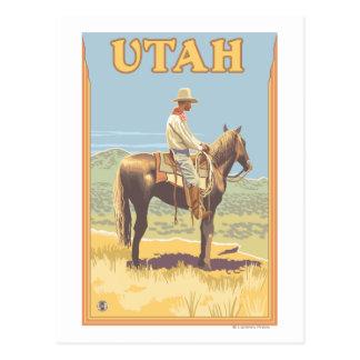 Carte Postale Cowboy (vue de côté) Utah