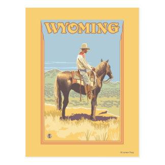 Carte Postale Cowboy (vue de côté) Wyoming