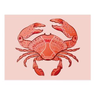 Carte Postale Crabe de style
