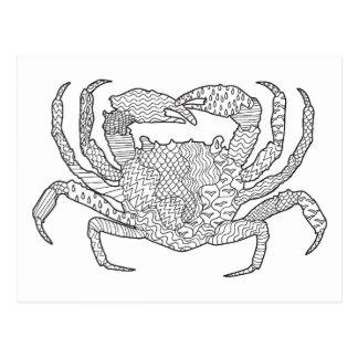Carte Postale Crabe de Zendoodle