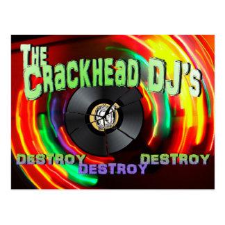 Carte Postale Crackhead DJ détruisent détruisent détruisent