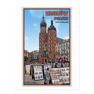 Carte Postale Cracovie - basilique de St Marys