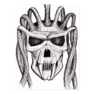 Carte Postale crâne de crainte
