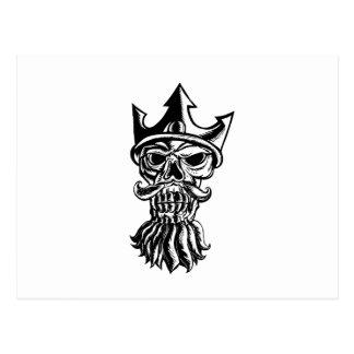 Carte Postale Crâne de Neptune Sratchboard