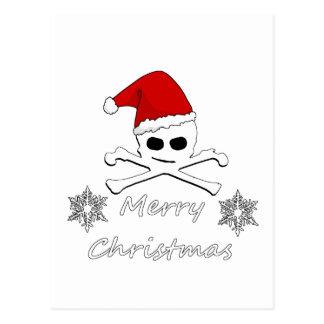 Carte Postale Crâne de Noël