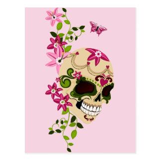 Carte Postale Crâne de sucre [Día de Muertos]