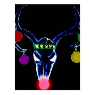 Carte Postale Crâne psychédélique de Rudolph
