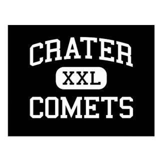 Carte Postale Cratère - comètes - haut - point central Orégon