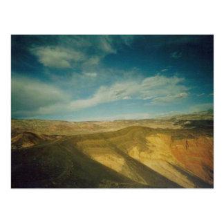 Carte Postale Cratère Death Valley d'Ubehebe