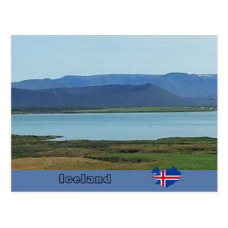 Carte Postale Cratère volcanique de Hverfjall, Islande