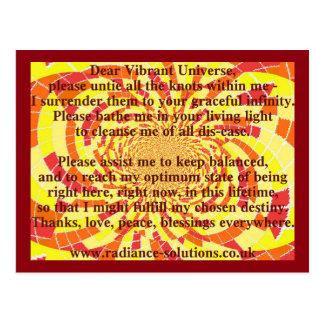 Carte postale créative 5 - chère prière vibrante
