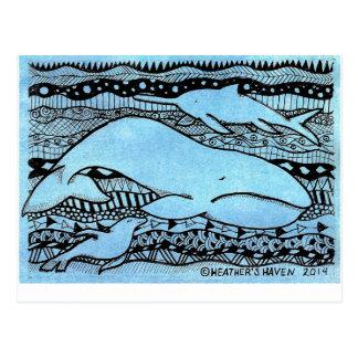 Carte Postale Créatures de mer