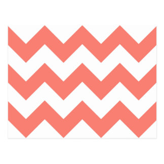 Carte Postale Créez votre propre grand motif de zigzag saumoné