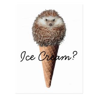 Carte Postale Crème glacée de hérisson