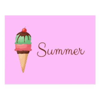 Carte Postale Crème glacée d'été