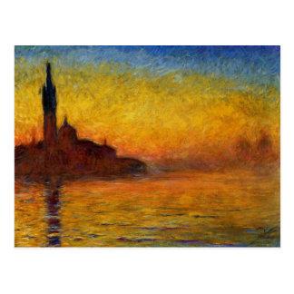 Carte Postale Crépuscule de Claude Monet //Venise