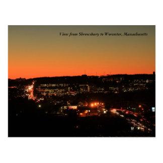 Carte Postale Crépuscule de Shrewsbury Worcester