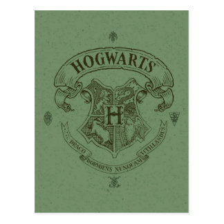 Carte Postale Crête de bannière de Harry Potter | Hogwarts