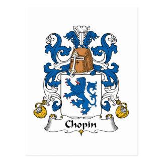 Carte Postale Crête de famille Chopin