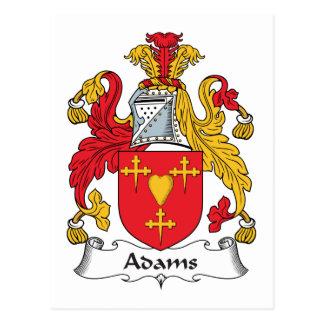Carte Postale Crête de famille d'Adams