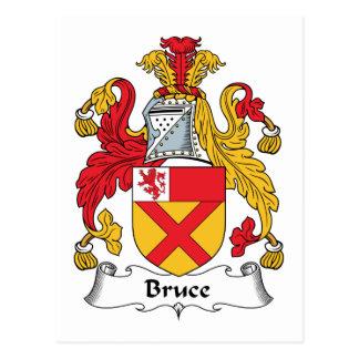 Carte Postale Crête de famille de Bruce
