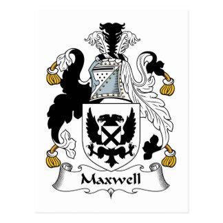 Carte Postale Crête de famille de Maxwell