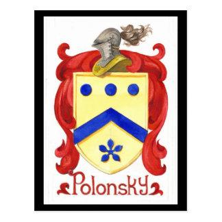 Carte Postale Crête de famille de Polonsky