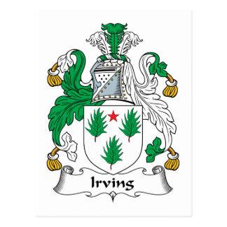 Carte Postale Crête de famille d'Irving