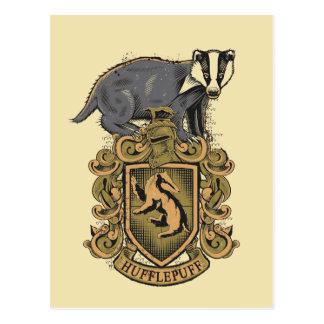 Carte Postale Crête de Harry Potter | Hufflepuff avec le