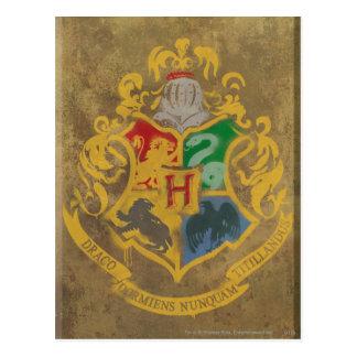 Carte Postale Crête rustique de Harry Potter | Hogwarts