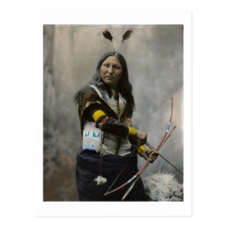 Carte Postale Cri à l'Indien d'Oglala Sioux 1899