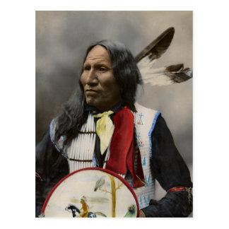 Carte Postale Cri au cru d'Indien d'Oglala Sioux 1899