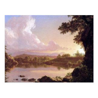 Carte Postale Crique de Catskill par l'église de Frederick Edwin