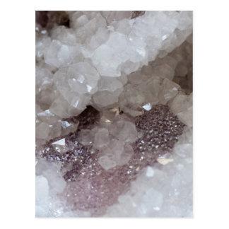 Carte Postale Cristal d'argent et de quartz