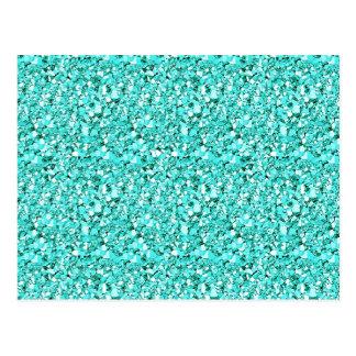 Carte Postale Cristal de Druzy - bleu bleu vert