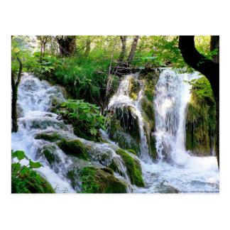 Carte postale croate de cascade