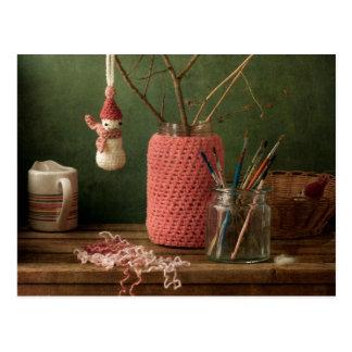 Carte Postale Crochet pour Noël