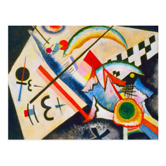 Carte postale croisée blanche de Kandinsky