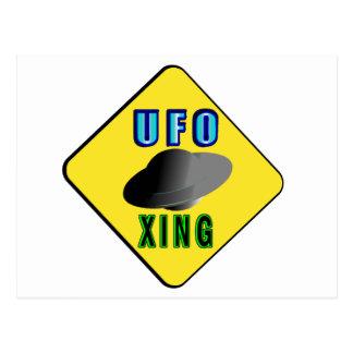 Carte Postale Croisement d'UFO