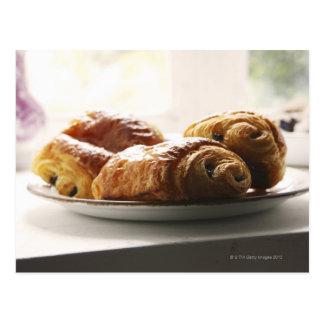 Carte Postale croissants français d'un plat