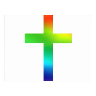 Carte Postale Croix d'arc-en-ciel