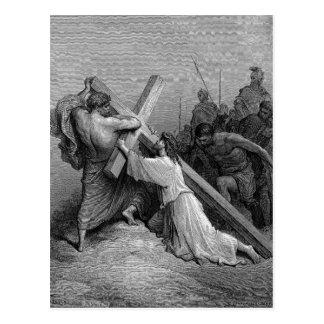 Carte Postale Croix en baisse de Jésus BeneathThe