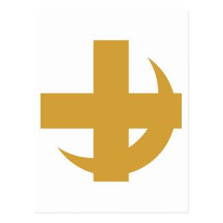 Carte Postale Croix et croissant de Chi de lambda alpha
