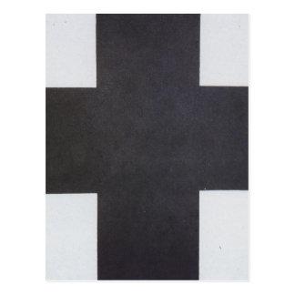 Carte Postale Croix noire par Kazimir Malevich