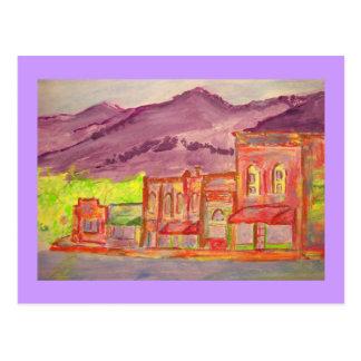 Carte Postale croquis de couleur pour aquarelle de ville de