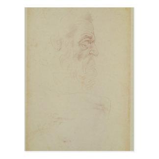 Carte Postale Croquis d'un principal masculin et de deux jambes